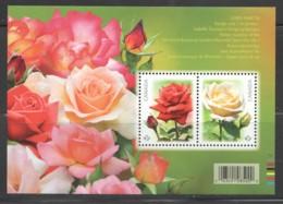 2014  Roses  Souvenir Sheet Of 2  Sc 2727 ** MNH - 1952-.... Reign Of Elizabeth II