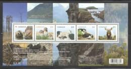 2014 Baby Wildlife Souvenir Sheet Of 5 Beavers, Owls, Goat, Puffin, Wapiti  Sc 2709 ** MNH - Ungebraucht