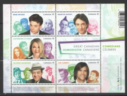 2014 Canadian Comedians Souvenir Sheet Of 5  Sc 2772  ** MNH - 1952-.... Reign Of Elizabeth II