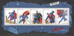 2013 Superman - Souvenir Sheet Of 5 Different Sc 2677 ** MNH - 1952-.... Reign Of Elizabeth II