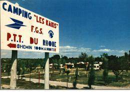 Cpsm 11 Sigean Camping Les Kakis PTT Du Rhône  Déstockage à Saisir - Sigean