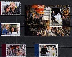 SOUTH GEORGIA , 2018, MNH, ROYAL WEDDING, PRINCE HENRY OF WALES AND MEGHAN MARKEL, 4v + S/SHEET - Royalties, Royals