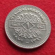 Syria 1 Pound 1971 KM# 98  Siria Syrie - Syria