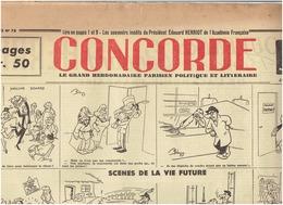 N°78 CONCORDE  Du 16 Janvier 1947  HERRIOT - Journaux - Quotidiens