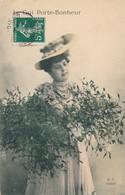 CPA M.F. Paris Le Gui Porte-bonheur Circulée Timbre 1909 Femme Chapeau Woman - Giftige Pflanzen