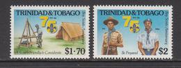 1986 Trinidad & Tobago Scouts Complete Set Of 2 MNH - Trinidad & Tobago (1962-...)