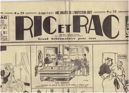 N°575 RIC Et RAC Du 13 Mars 1940 Caricatures Guerin...Bellus . - Newspapers