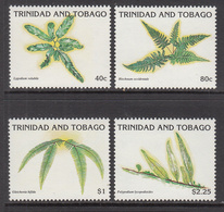 1991 Trinidad & Tobago Ferns Plants  Complete Set Of 4 MNH - Trinidad & Tobago (1962-...)