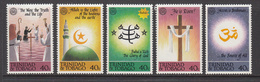 1992 Trinidad & Tobago Religions Islam Hindu Christianity  Complete Set Of 5 MNH - Trinidad Y Tobago (1962-...)