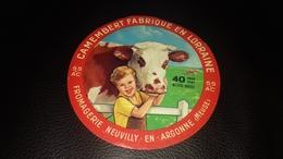 Etiquette De Fromage  Camembert Fabrique En Lorraine - Fromage