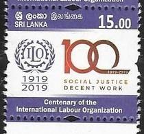 SRI LANKA, 2019,ILO, INTERNTIONAL LABOUR ORGANIZATION,1v - Organisations