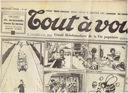 N°50 1ere Année TOUT A VOUS Du 31 Janvier 1935 - Humour Et Caricatures- Confidences D'A PREJEAN - Journaux - Quotidiens