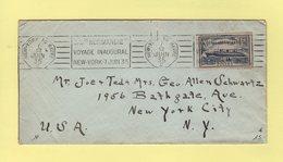 SS Normandie Voyage Inaugural New York 7 Juin 1935 - New York Au Havre C - Marcophilie (Lettres)