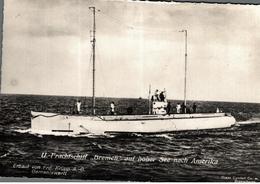 Cpsm Rare Marine Fotograf Renard Kiel Bateau Guerre U Frachtschiff Bremen Auf Hoher See Nach Amerika - Guerre