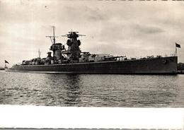 Cpsm Rare Marine Fotograf Renard Kiel Bateau Guerre Admiral Scheer - Guerra