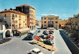 "3451 ""GRUGLIASCO-PIAZZA 66 MARTIRI CON MUNICIPIO"" ANIMATA-AUTOBUS,MERCEDES,FIAT,RENAULT,VW- CART. POST. ORIG. NON SPED. - Italia"