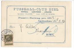 22027 - Füssball-Club Biel Lawn-Tennis Passi-Beitrag 1917 - BE Bern