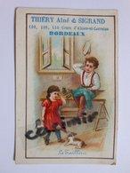 B0069b - Chromo LE TAILLEUR - VETEMENTS THIERY Ainé Et SIGRAND 106 108 110 COURS D'ALSACE-ET-LORRAINE - BORDEAUX - Vieux Papiers