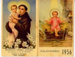Santino - S.antonio Da Padova - Calendarietto 1956 - Fe1 - Images Religieuses