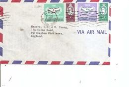 Guyane Britannique ( Lettre Par Avion De 1966 Vers La Grande=Bretagne à Voir) - Britisch-Guayana (...-1966)
