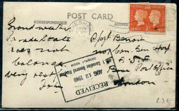 GRANDE BRETAGNE - N° 230 / CP AVEC OM D'EVESHAM LE 8/8/1940 POUR UN HOPITAL MILITAIRE - TB - Storia Postale