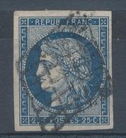 N°4 BLEU FONCE GRILLE 1849 - 1849-1850 Ceres