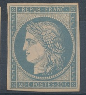 N°8 BLEU SUR JAUNATRE.VOIR DESCRIPTIF - 1849-1850 Ceres
