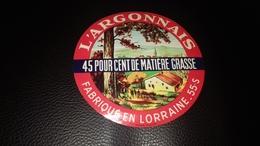 Etiquette De Fromage L Argonnais - Fromage