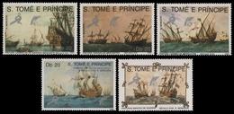 São Tomé & Príncipe 1989 - Mi-Nr. 1129-1133 ** - MNH - Schiffe / Ships - São Tomé Und Príncipe