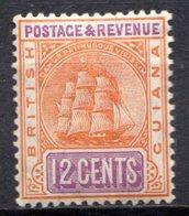 GUYANE BRITANNIQUE - 1906-08 - N° 111 - 12 C. Orange Et Violet - (Armoiries) - Guyane Britannique (...-1966)
