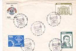 ENVELOPE OBLITERE MUSEO POSTAL Y FILATELICO DEL PERU, AMIGOS DEL MUSEO YEAR 1985 MIXED STAMPS - BLEUP - Peru
