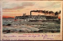 "Cpa, Lachine Rapids, Near Montreal, Bâteau ""Sovereign"", écrite En 1904, Canada - Montreal"