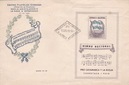 HIMNO NACIONAL ARGENTINO FDC ENTIER STATIONERY BUENOS AIRES 1914 - BLEUP - Musica