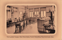 Sherbrooke Québec - Mont Notre-Dame - Cours Gradué Français - French Graduating Class - Written 1912 - 2 Scans - Sherbrooke