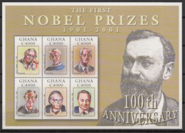 Ghana - 2002 - N°Yv. 2767 à 2772 - Prix Nobel - Neuf Luxe ** / MNH / Postfrisch - Ghana (1957-...)