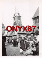 PHOTO 8,5 X 6,5 Cms  HONFLEUR (Calvados) Marché Place De L'Eglise - Lieux