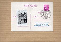 """1945 - Entier Postal - 679-CP1 Cachet ANGERS & Vignette """"Premier Hotel Des Postes D'Angers"""" - Kartenbriefe"""