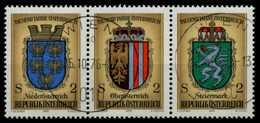ÖSTERREICH 1976 Nr 1522 Und 1523 1524 Gestempelt 3ER STR X80DA16 - 1945-.... 2. Republik