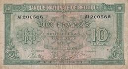 Belgique / 10 Francs / 1943 / P-122(a) / FI - [ 2] 1831-... : Belgian Kingdom