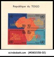 TOGO - 1961 UN ECONOMICAL COMMISSION - MINIATUE SHEET MINT NH IMPERF!!! - Togo (1960-...)