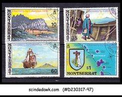 MONTSERRAT - 1973 DISCOVERY BY COLUMBUS - 4V - USED - Montserrat