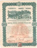Titre Ancien - Compañia De Las Minas De Oro Y Plata - La Preciosa - Titre De 1909 - Mines