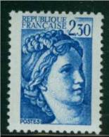 2156b Sabine 2.30 Bleu Gomme Tropicale - 1977-81 Sabine Of Gandon