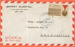 TURCHIA - TURKEY - 1968 - 130 Istiklal Madalyasi - Air Mail - Sevket Alanyali - Viaggiata Da Izmir Per Bâle, Suisse - 1921-... Repubblica