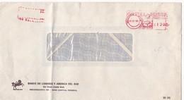 MACHINE D'AFFRANCHISSEMENT ENVELOPPE COMMERCIAL BANCO DE LONDRES Y AMERICA SUD CIRCULEE 1981 BUENOS AIRES  - BLEUP - Argentina