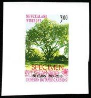 New Zealand Wine Post Botanic Gardens Specimen Overprint. - Unclassified