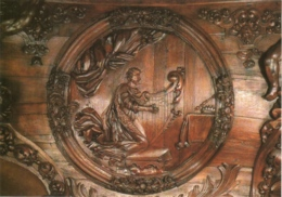 CPM 70 (Haute-Saône) Luxeuil-les-Bains - Médaillon De La Console D'orgue De La Basilique, Le Roi David TBE - Luxeuil Les Bains