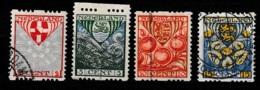 1926 Kinderzegels Roltanding NVPH R74-R77 Gestempeld - Booklets
