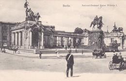 BERLIN. NATIONAL DENKMAL KAISER WILHELM I. CPA GERMANY CIRCA 1904s - BLEUP - Deutschland