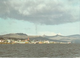 A Mariner's View Of Port Stanley And The Distant Hills Of Tumbledown, Two Sisters And Mount Kent - Falkland Islands